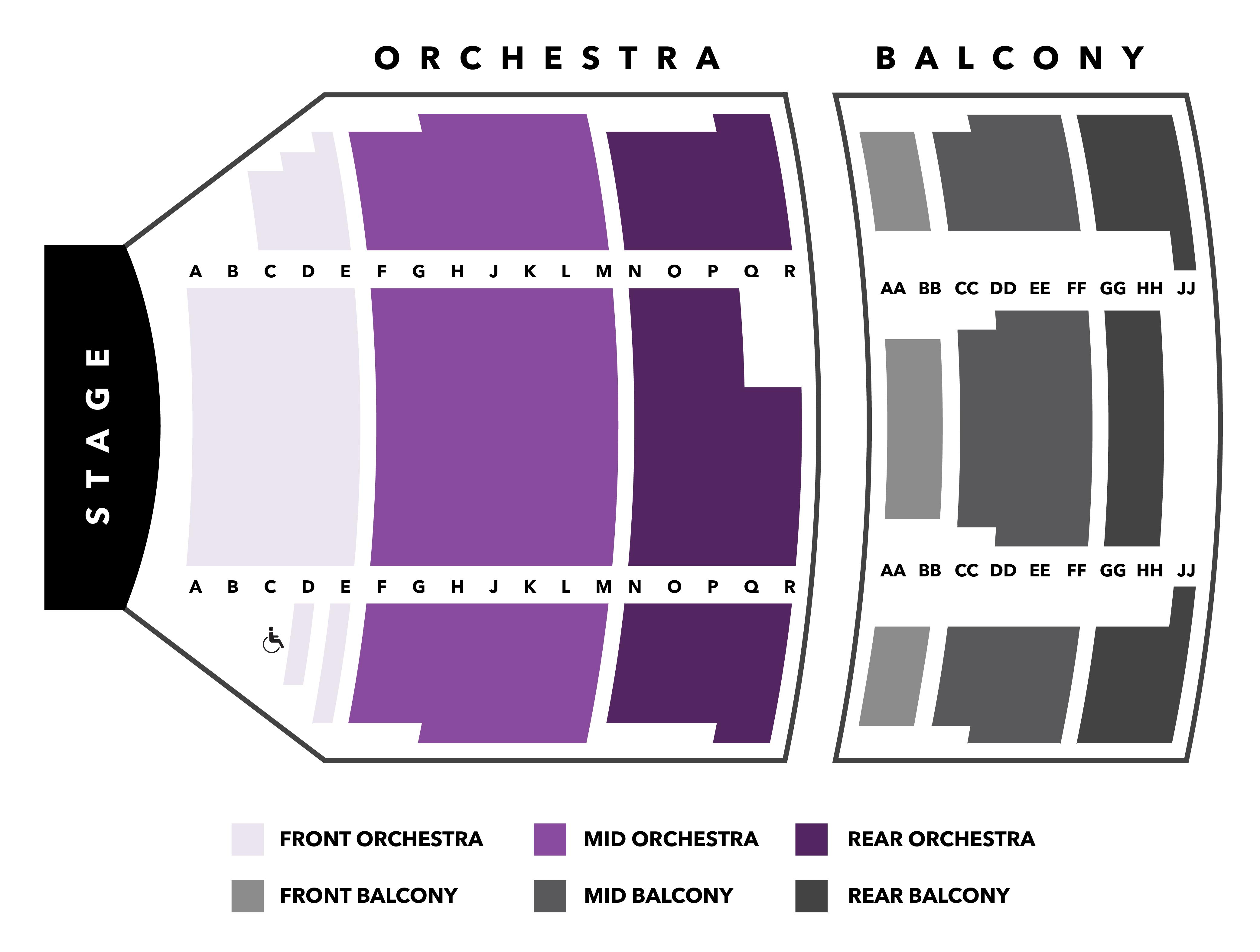 Seating Chart Skylands Performing Arts Center